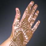 Turmeric decoration on hands