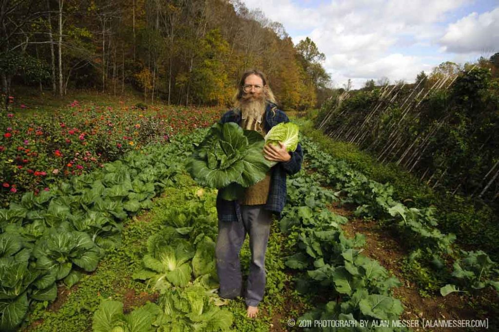 Jeff Poppen, The Barefoot Farmer, photo by Alan Messer