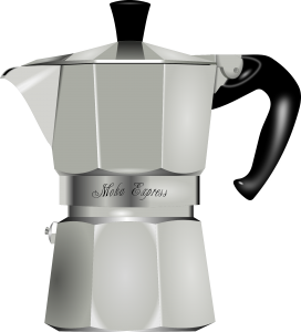 The original Italian moka pot, for great and tasty coffee: in just 3-4 minutes it's ready.